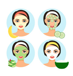 natural facial masks vector image