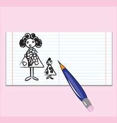 notebook mothers day vector image