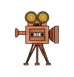 Old cinema camcorder vector