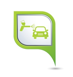 Painting cars green pointer vector