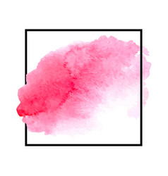 pink watercolor vector image