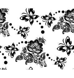 Seamless floral pattern with flower and vector image