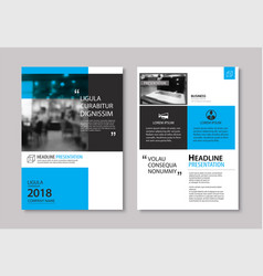 Set of blue cover and layout brochure flyer vector
