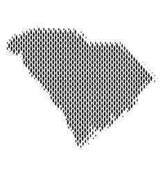 South carolina state map population demographics vector