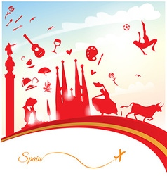 spain travel background vector image