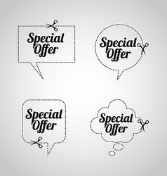 special offer design vector image