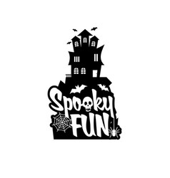 spooky fun with typography design vector image