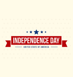 Style banner for independence day vector