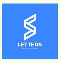 super rate logo - letter s vector image