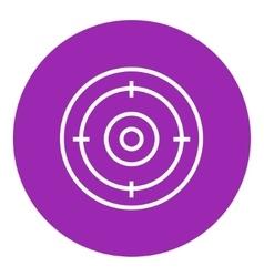Target board line icon vector