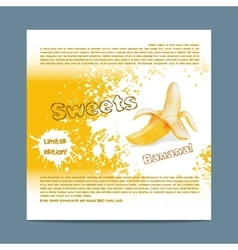 Template candy packaging Banana sweets vector image