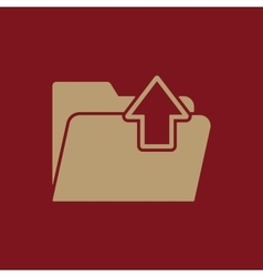The folder icon download symbol flat vector