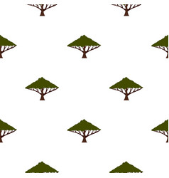tree with large crown pattern flat vector image