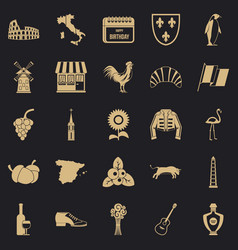 Winery icons set simple style vector