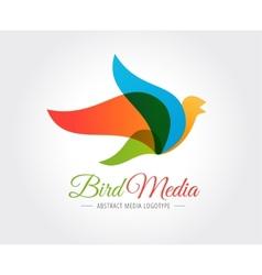 Abstract bird logo template for branding vector image