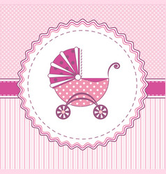 label stroller pink vector image