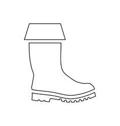Rubber boot icon outline style vector image