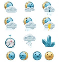 weather forecast icons night vector image vector image