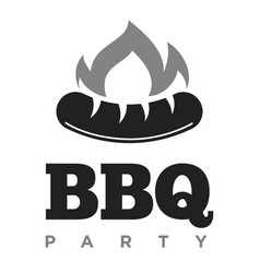 bbq party promotional monochrome emblem with vector image vector image
