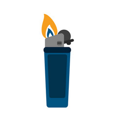 lighter fire icon image vector image vector image