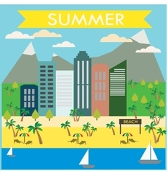 Resort town landscape vector