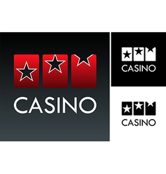 Slot and casino logo vector image
