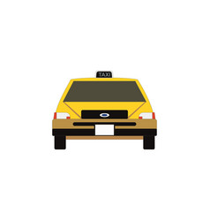 taxi icon in flat style yellow car vector image