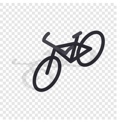 black bike isometric icon vector image
