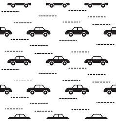 car cute baby scandinavian seamless pattern vector image