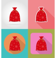 christmas and new year flat icons 08 vector image vector image