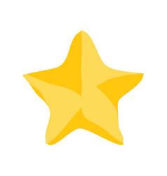 christmas star icon vector image