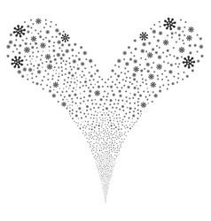 Virus fountain stream vector