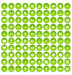 100 mens team icons set green circle vector image vector image