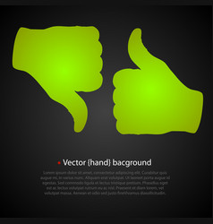 good bad hand vector image