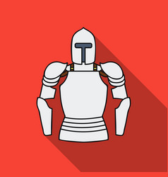 plate armor icon in flat style isolated on white vector image vector image