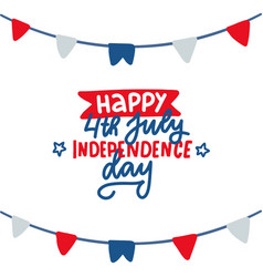 4th july american independence day greeting vector image