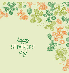 abstract floral st patricks day background vector image