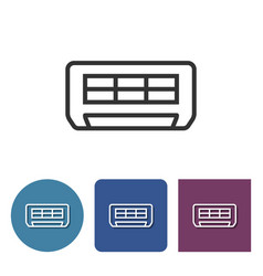 air conditioner line icon in different variants vector image