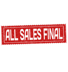 All sales final grunge rubber stamp vector