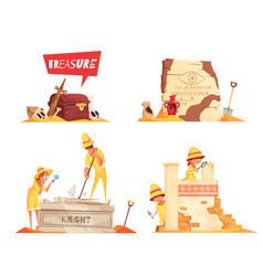 Archeology design concept vector