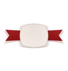 Banner with red ribbon and place for text vector
