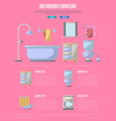 Bathroom furniture poster in flat style vector