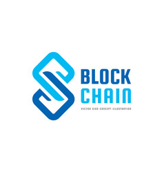 blockchain technology - logo template vector image