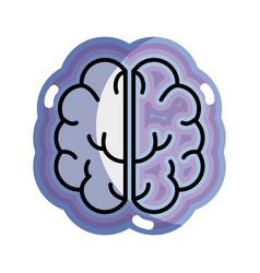 Blue creative brain and mental healthy vector