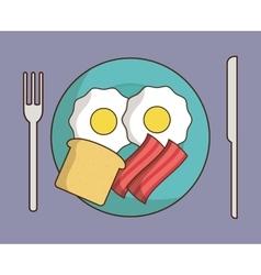Breakfast design Kawaii icon graphic vector