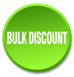 Bulk discount green round flat isolated push vector