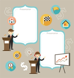 Businessman Show Success Achievement vector image