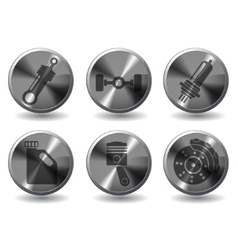 Car interface icons set vector