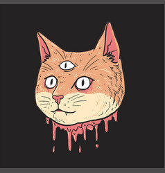 cat cute cut head vector image