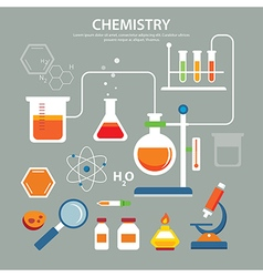 chemistry background education concept flat design vector image
